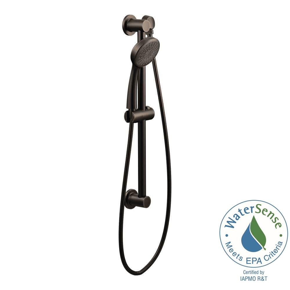 MOEN 1 Spray Handheld Hand Shower With Slide Bar In Oil