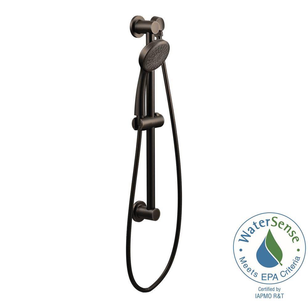 Moen 1-Spray Handheld Hand Shower with Slide Bar in Oil Rubbed Bronze by MOEN