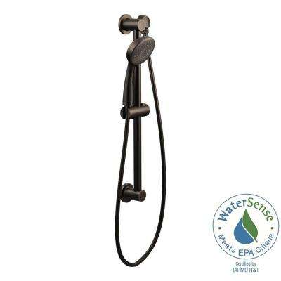 1-Spray Handheld Hand Shower with Slide Bar in Oil Rubbed Bronze