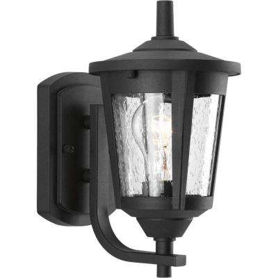 East Haven Collection 1-Light  Black 10.4 in. Outdoor Wall Lantern