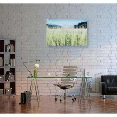 "24 in. x 16 in. ""Fields of Green"" by Oliver Gal Printed Framed Canvas Wall Art"