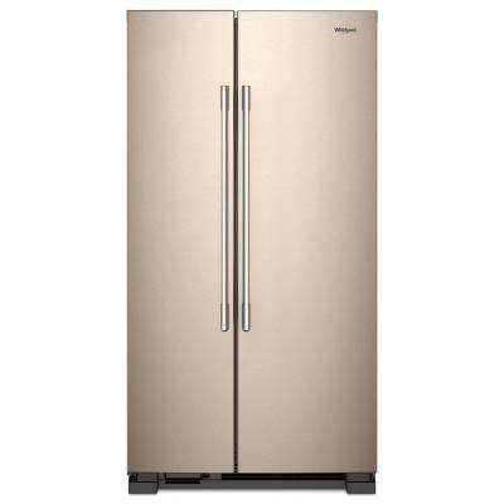 25 cu. ft. Freestanding Side by Side Refrigerator in Sunset Bronze
