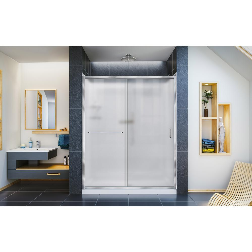 Infinity-Z 34 in. x 60 in. x 76.75 in. Semi-Frameless Sliding
