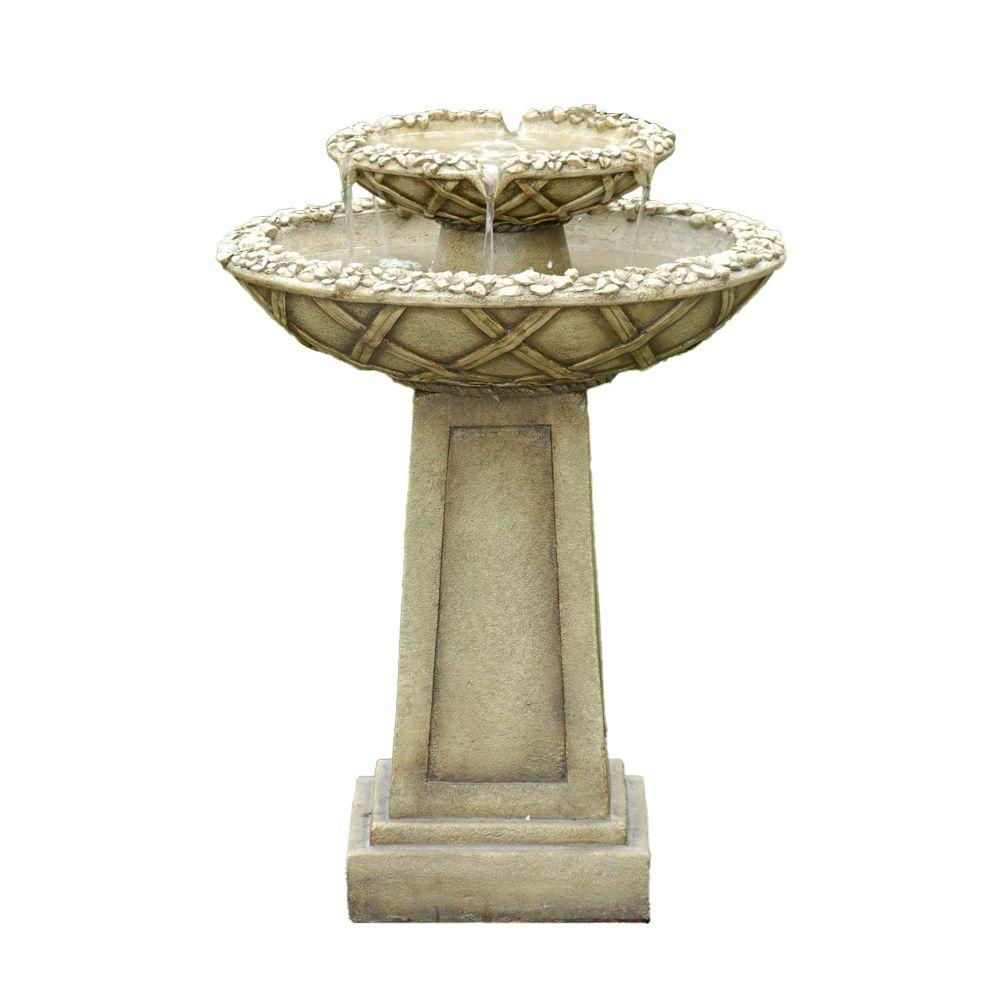 Fountain Cellar Bird Bath Outdoor Water Fountain-FCL057 - The Home ...
