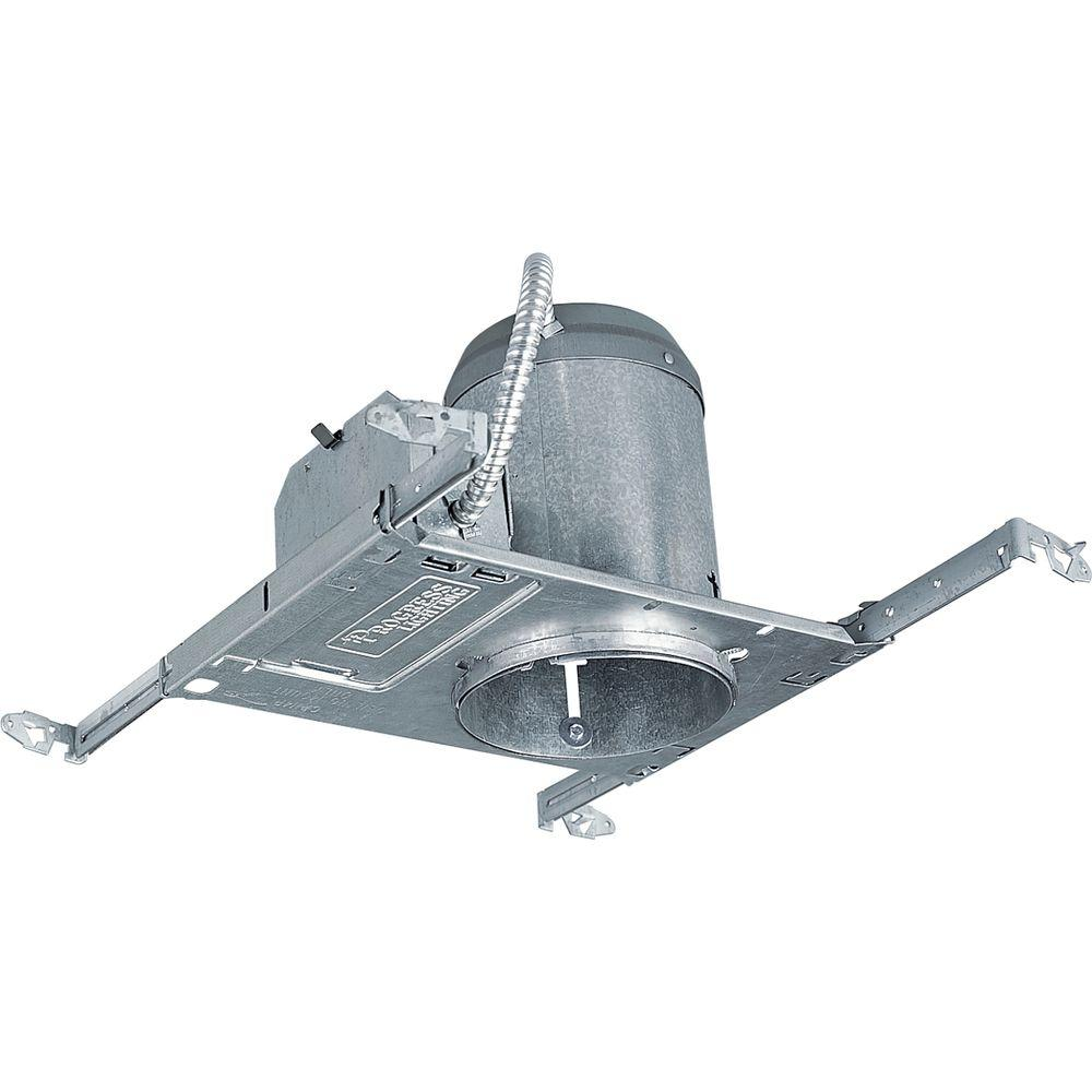 Progress Lighting 5 in. Metallic New Construction Recessed Housing, Non-IC