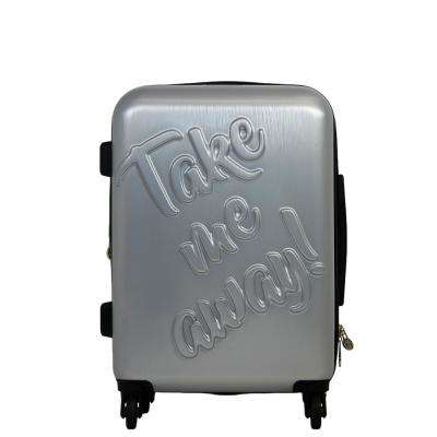 Take Me Away 21 in. Silver Rolling Luggage Suitcase