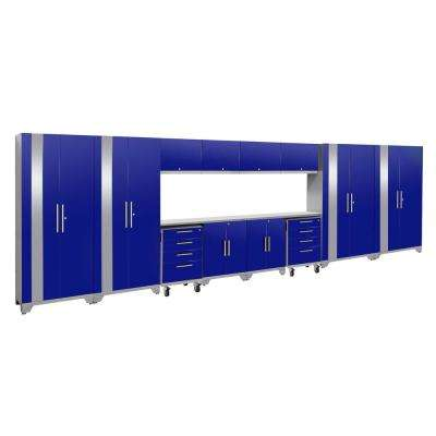 Performance 2.0 77.25 in. H x 216 in. W x 18 in. D  sc 1 st  Home Depot & Wall Cabinet - 14 - Blue - Garage Storage Systems - Garage Cabinets ...