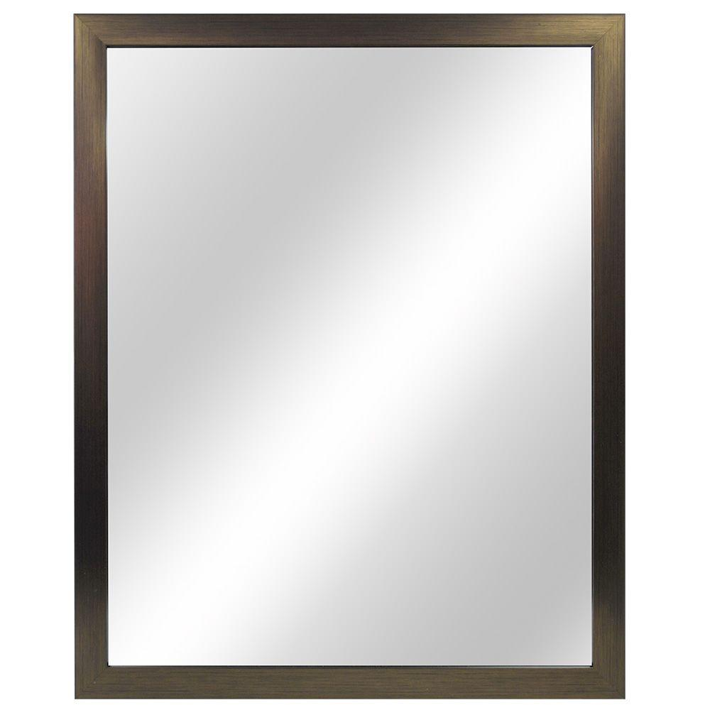 Home Decorators Collection 24 In W X 30 L Framed Fog Free Wall Mirror Oil Rubbed Bronze 81162 The Depot