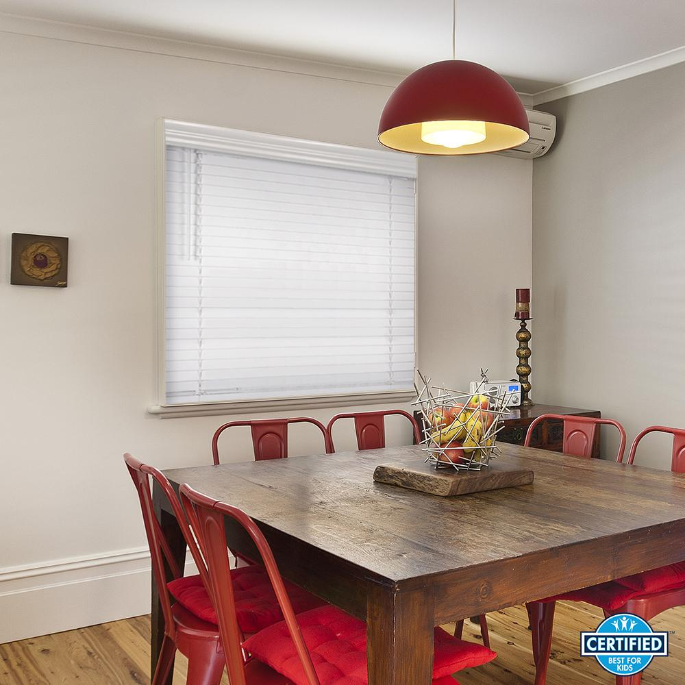 Home Decorators Collection White Cordless 2-1/2 in. Premium Faux ...