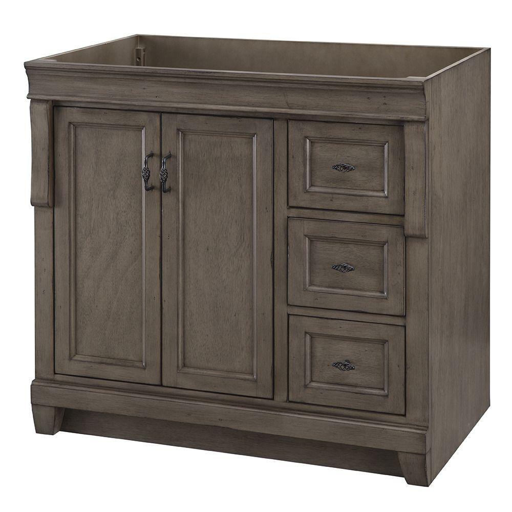 Home Decorators Collection Naples 36 In W Bath Vanity Cabinet Only Distressed Grey With