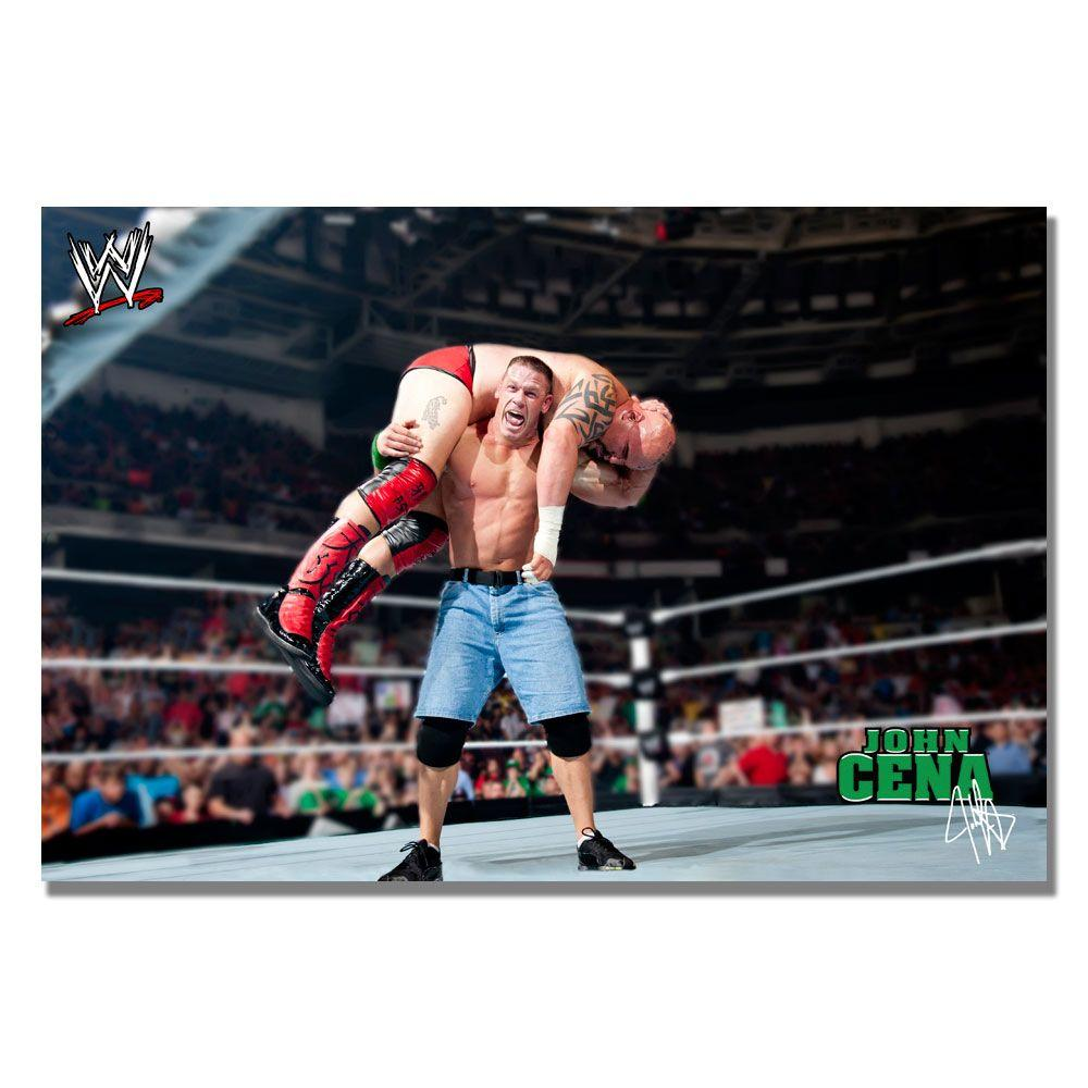 Trademark Fine Art 16 in. x 24 in. Officially Licensed WWE John Cena II Canvas Art