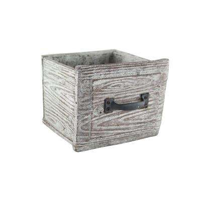 5-3/8 in. x 5 in. x 5 in. Cement Vintage Drawer