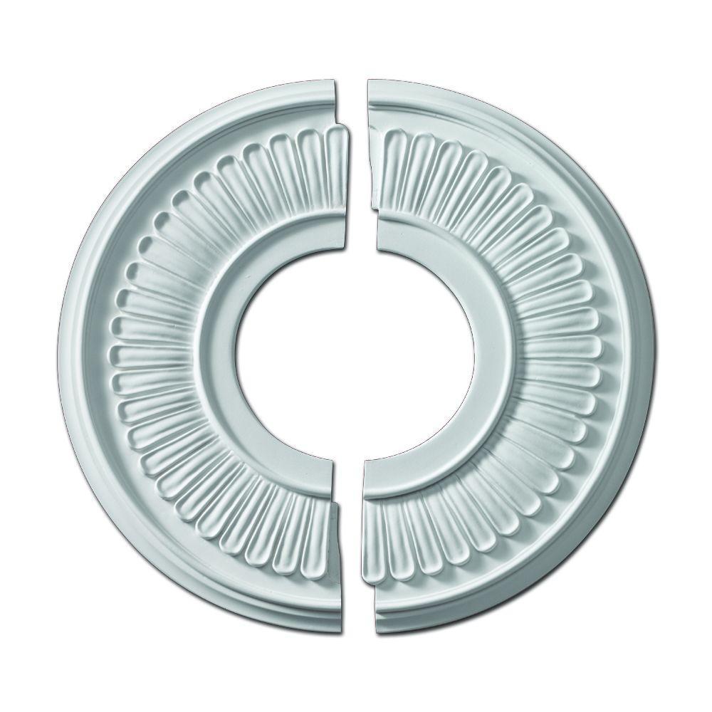 Fypon 15-1/2 in. x 15-1/2 in. x 5/8 in. Polyurethane Jefferson Ceiling Medallion (2-Piece)