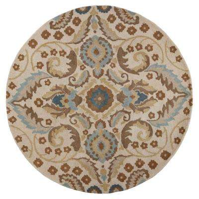 Sand Tapestry 5 ft. 6 in. x 5 ft. 6 in. Round Area Rug