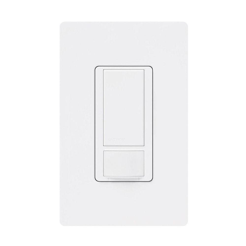 white lutron motion sensors ms ops6m2 dvr wh 64_1000 lutron maestro dual voltage motion sensor switch, 6 amp, single ms-ops5mh-wh wiring diagram at bayanpartner.co