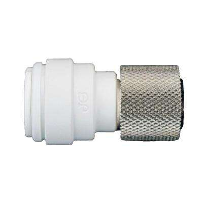 3/8 in. x 3/8 in. Plastic Push-to-Connect Female Compression Connector Contractor Pack (10-Pack)