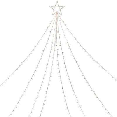 12 ft. Clear Lighted Christmas Display Tree Outdoor Decoration