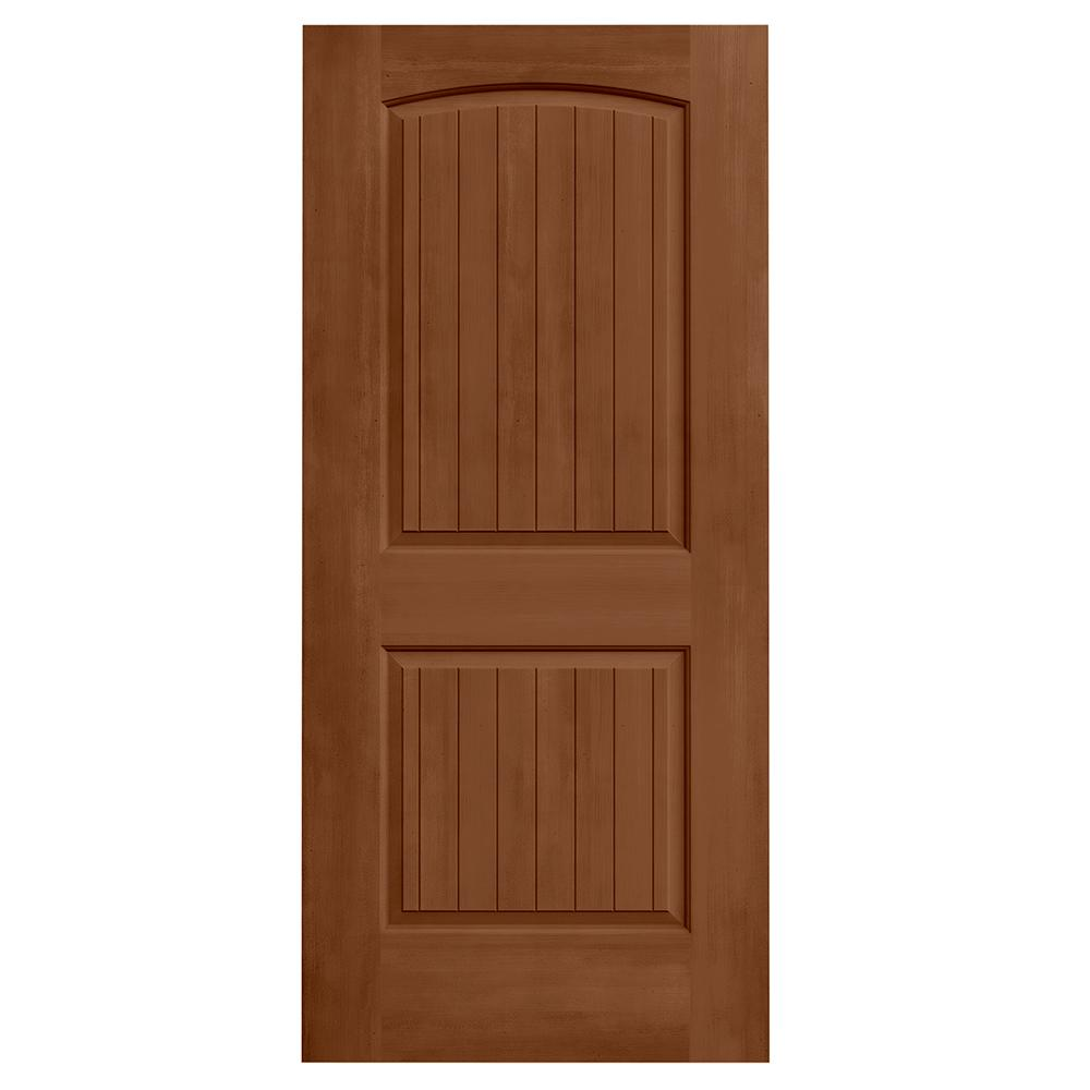 Jeld Wen 36 In X 80 In Santa Fe Hazelnut Stain Molded Composite Mdf Interior Door Slab