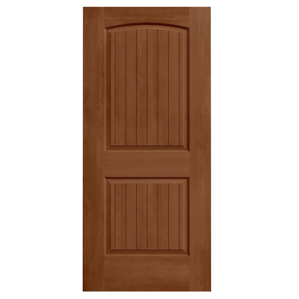 36 in. x 80 in. Santa Fe Hazelnut Stain Molded Composite MDF Interior Door Slab