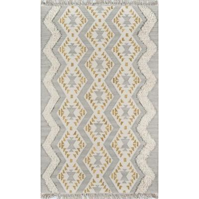 Indio Beverly Grey 2 ft. x 3 ft. Area Rug