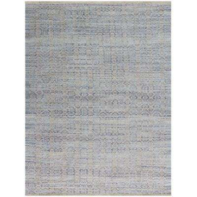 Zoelie Polo Blue 5 ft. x 8 ft. Rectangle Area Rug