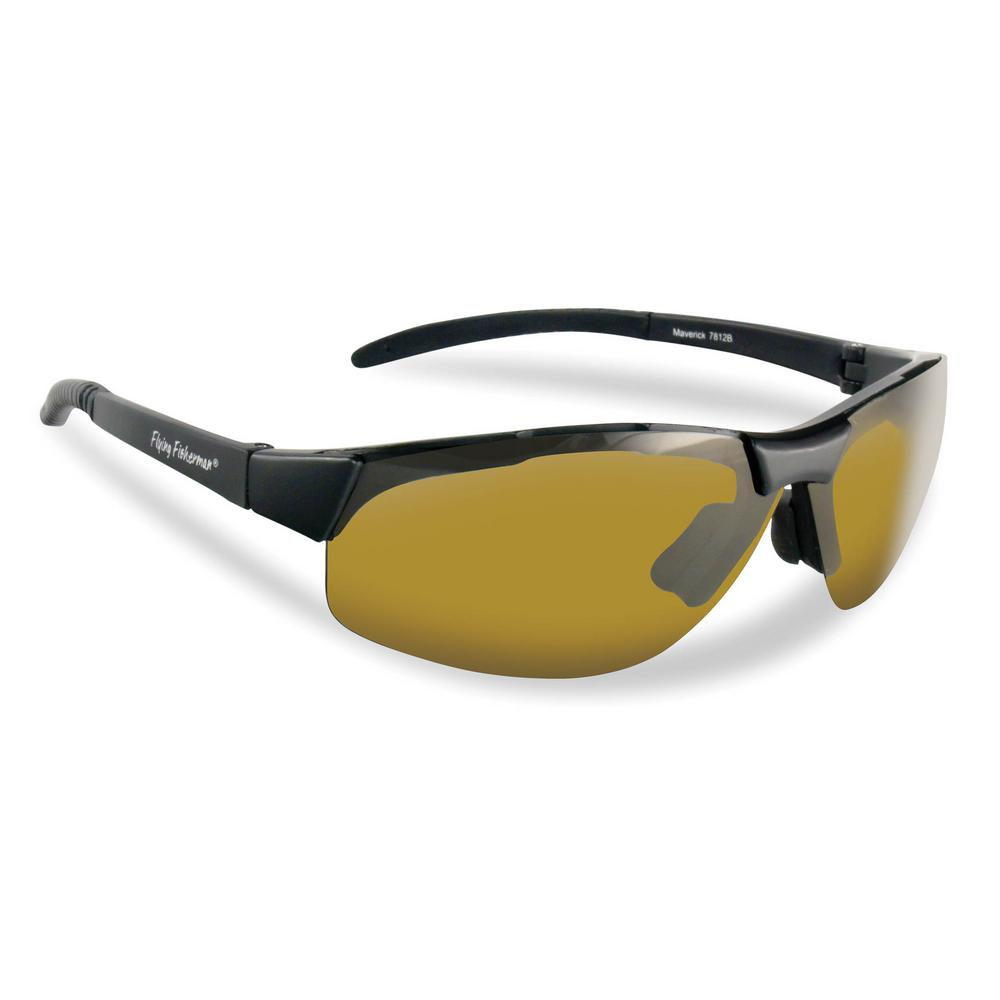 6b4794a9502b Flying Fisherman. Maverick Polarized Sunglasses in Black Frame with Yellow  Amber Lens