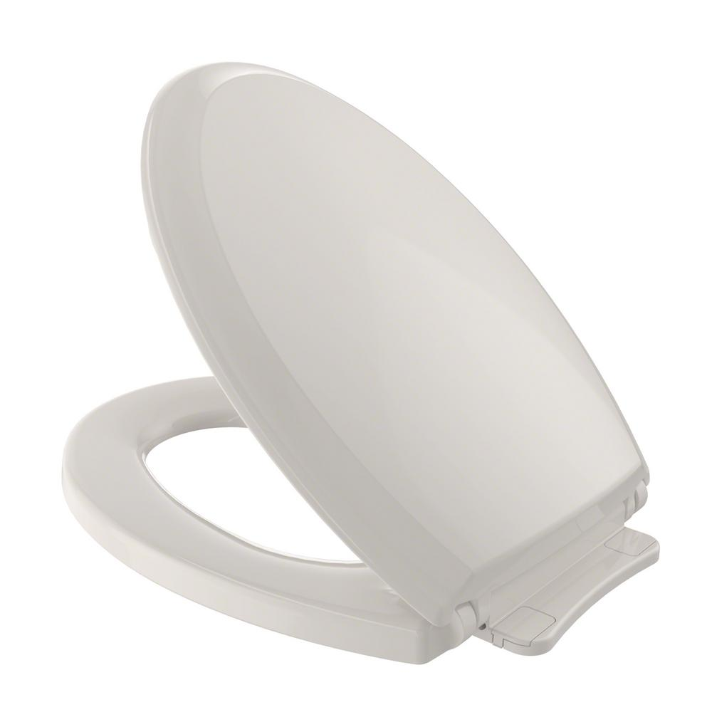 TOTO Guinevere SoftClose Elongated Closed Front Toilet Seat in Sedona Beige