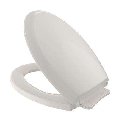 Guinevere SoftClose Elongated Closed Front Toilet Seat in Sedona Beige