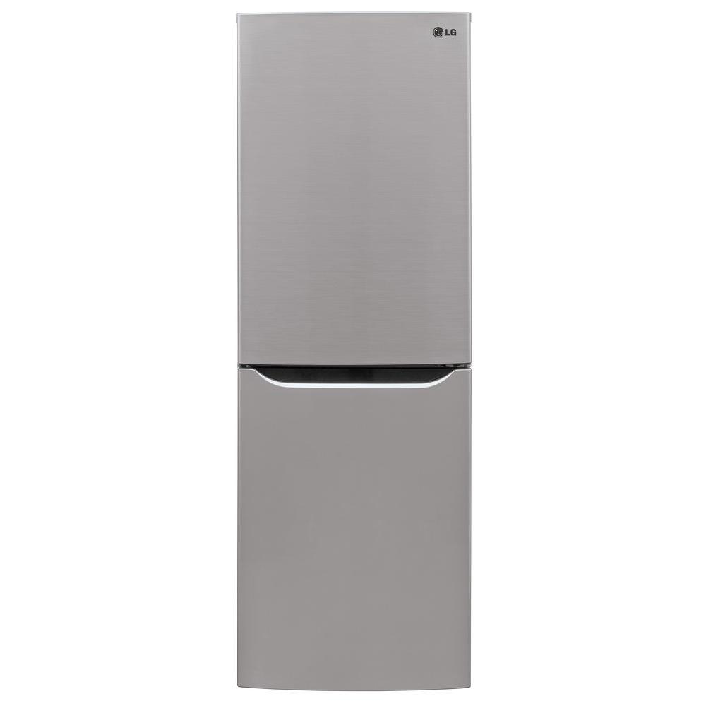 LG Electronics 10 cu. ft. Bottom Freezer Refrigerator in Platinum ...