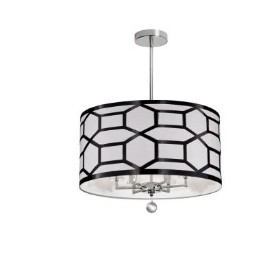 6-Light Black and White Chandelier