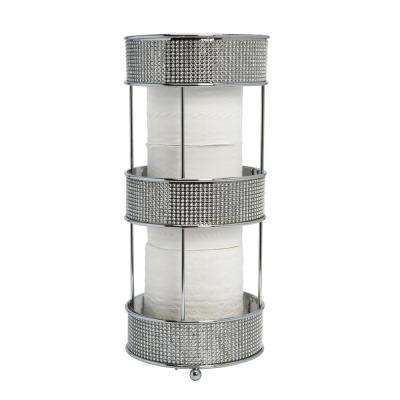 Toilet Paper Holder in Pave Diamond Design