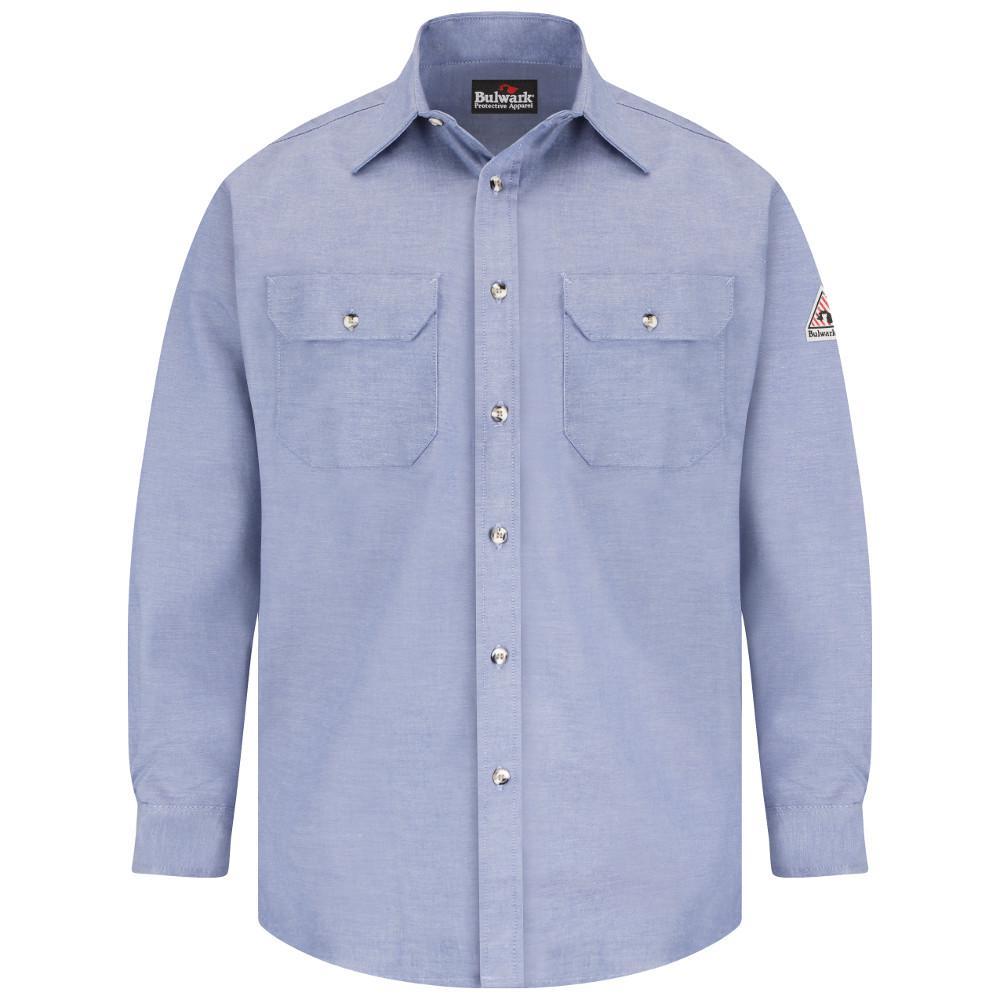 de2bd8fa2f7f Bulwark EXCEL FR ComforTouch Men s 3X-Large Chambray Uniform Shirt ...