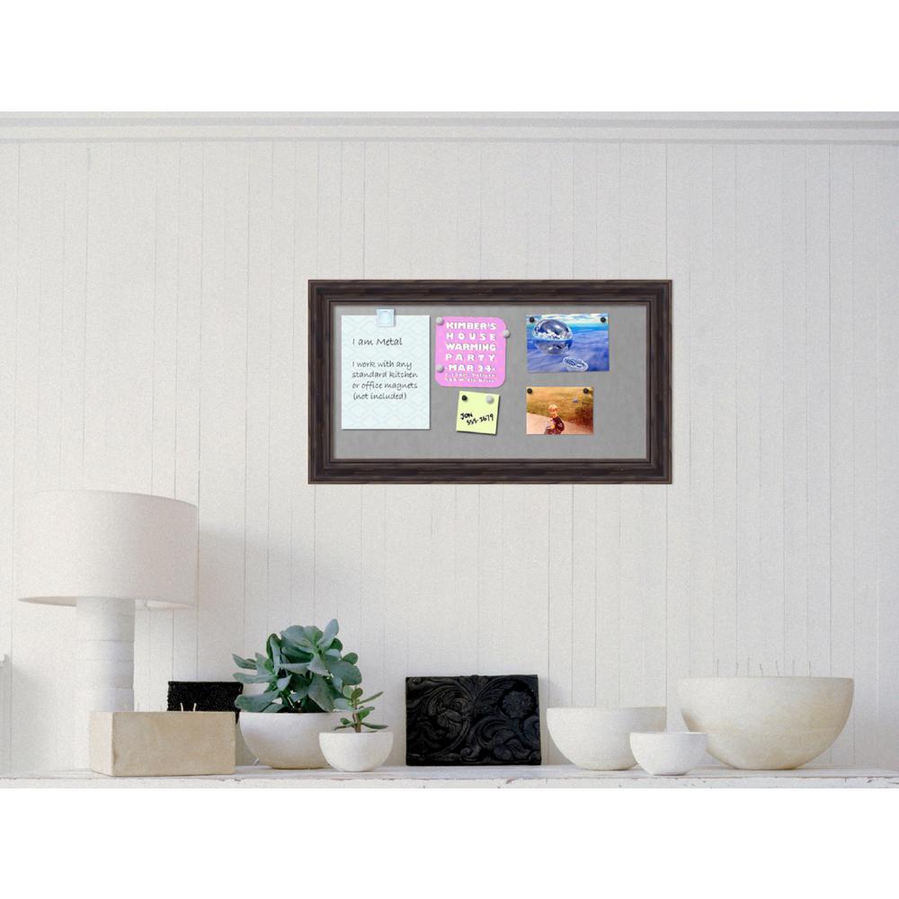 27 In. X 15 In. Rustic Pine Wood Framed Magnetic Board
