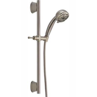 5-Spray 3.6 in. Single Wall Mount Handheld Shower Head in Stainless