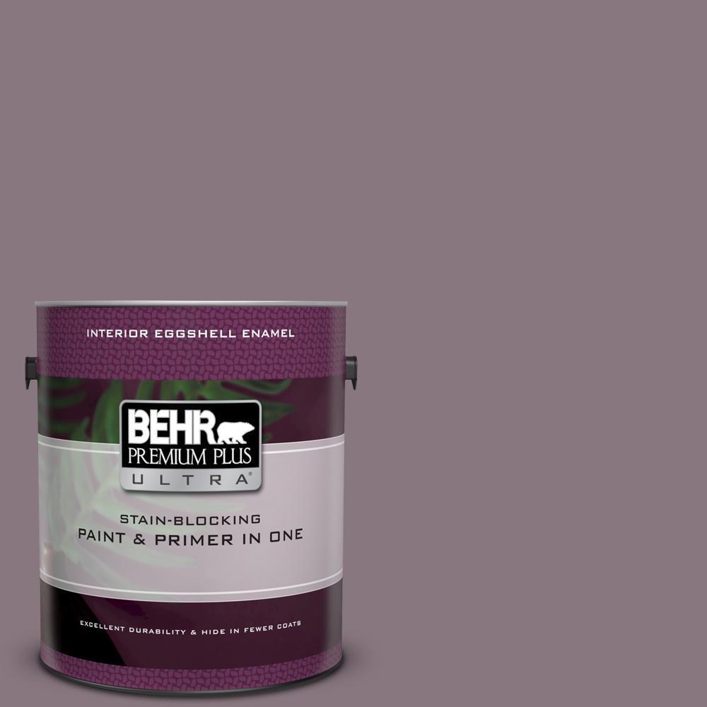 Bnc 20 Purple Rubiate Eggshell Enamel Interior Paint And Primer In One