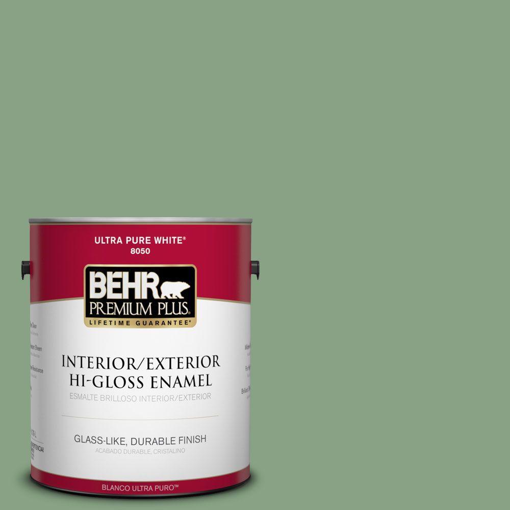 1-gal. #S400-5 Gallery Green Hi-Gloss Enamel Interior/Exterior Paint