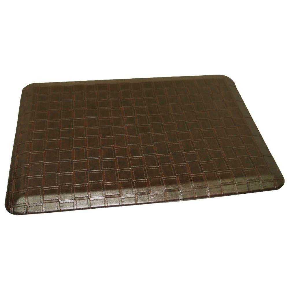 Rhino Comfort Craft Catmandoo Mocha 24 in. x 36 in. Poly-Urethane Blend Anti-Fatigue Kitchen Mat