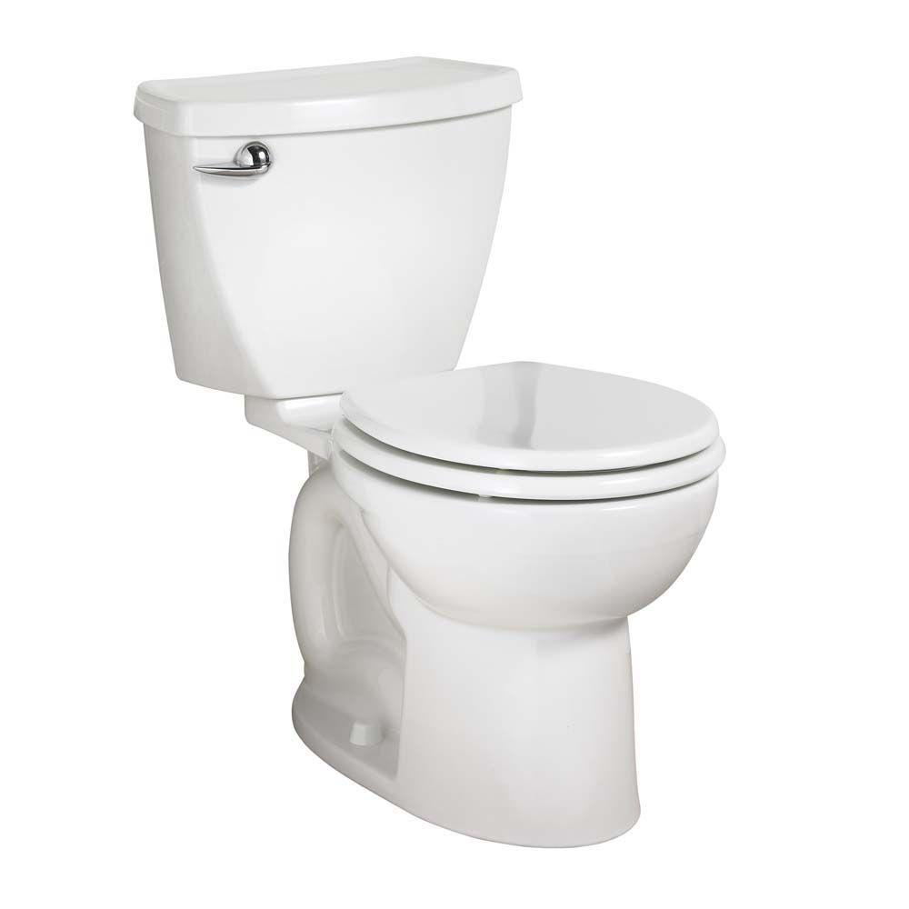 American Standard Cadet 3 Powerwash Tall Height 10 in. Rough 2-Piece 1.6 GPF Single Flush Round Toilet in White, Seat Not Included