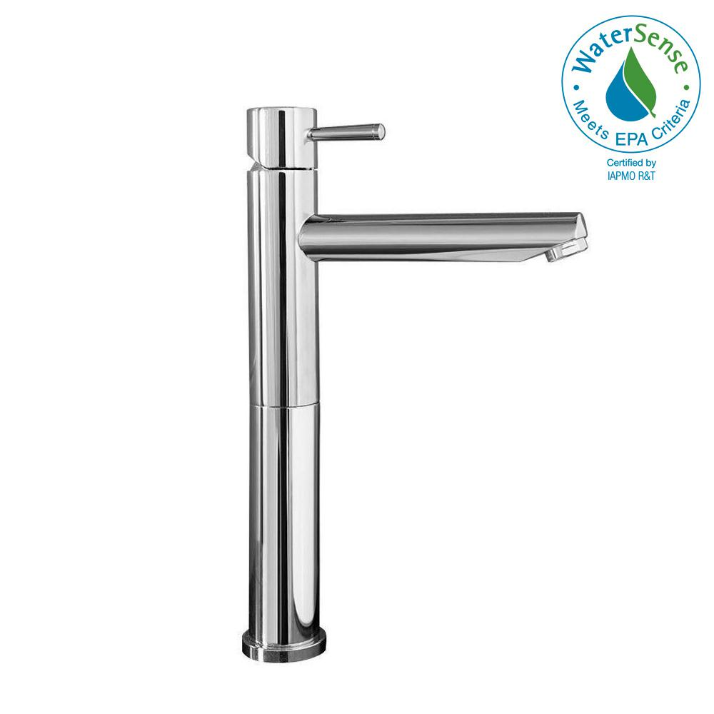 Serin Single Hole Single Handle High-Arc Bathroom Faucet in Polished Chrome