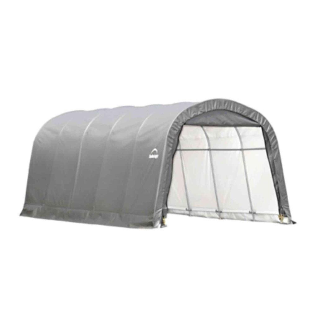 ShelterLogic 12 ft. x 20 ft. x 8 ft. Grey Steel and Polyethylene Garage without Floor