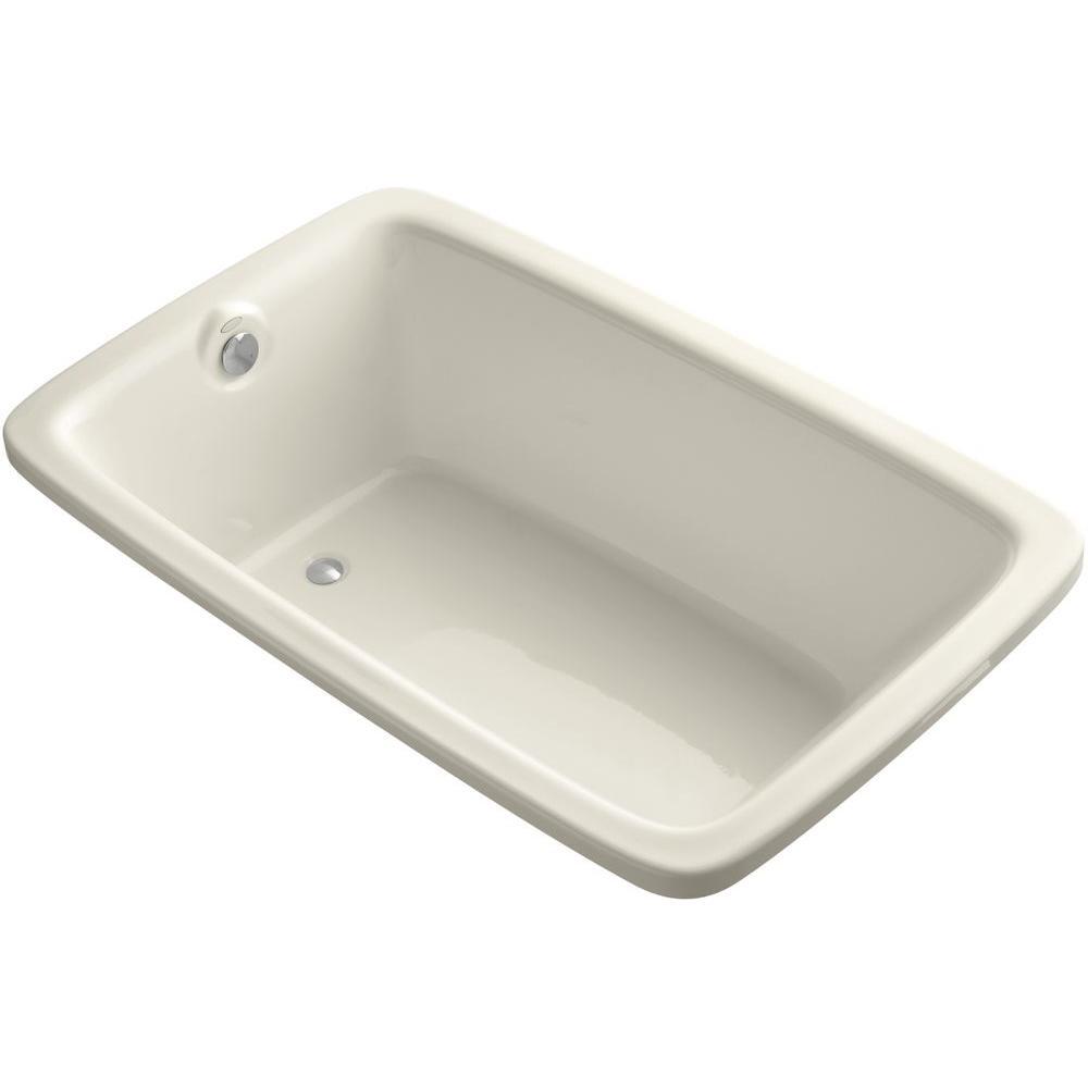 Bancroft 5.5 ft. Rectangle Reversible Drain Soaking Tub in Almond