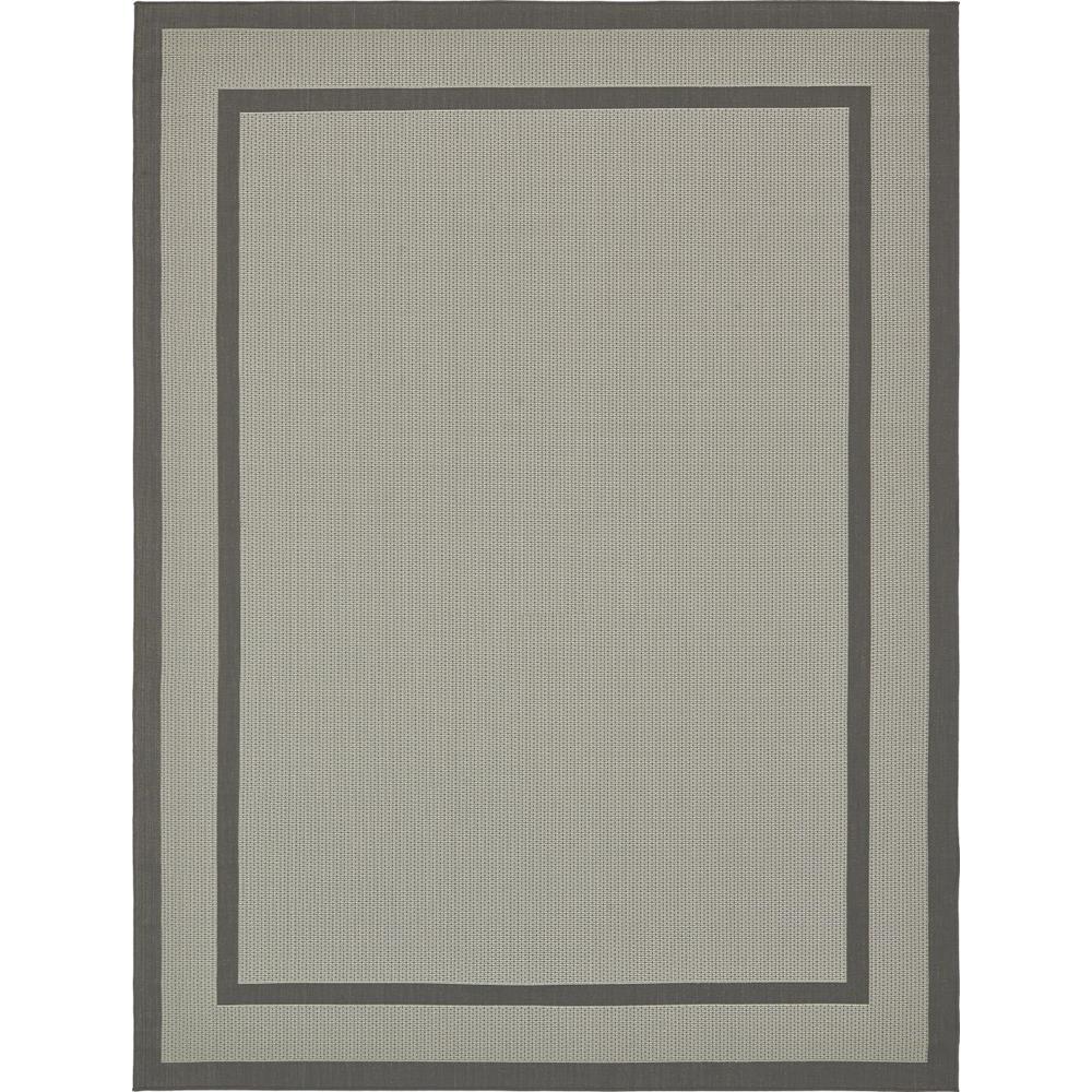 Outdoor Gray 9' 0 x 12' 0 Area Rug