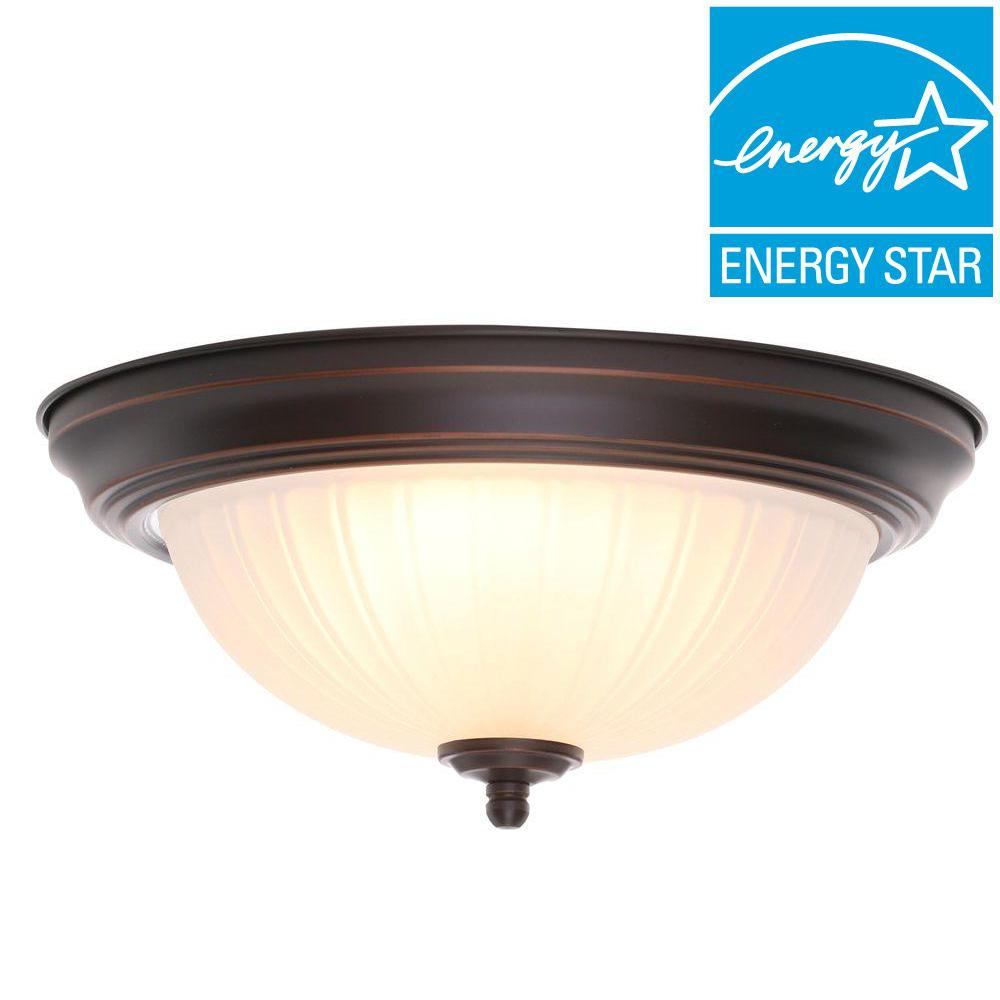 led oil rubbed bronze flush mount ceiling light fixtures lamp decor qty two 2 ebay. Black Bedroom Furniture Sets. Home Design Ideas