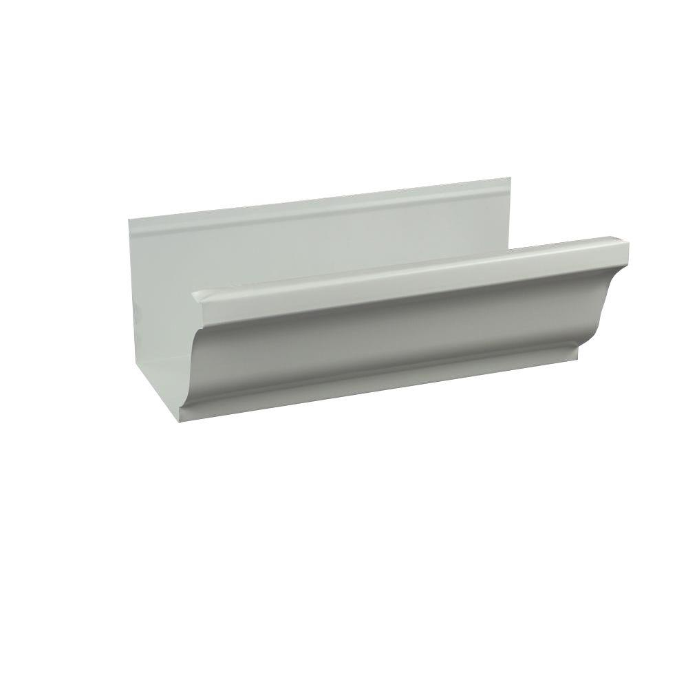 5 in. x 8 ft. K-Style Low Gloss White Aluminum Gutter