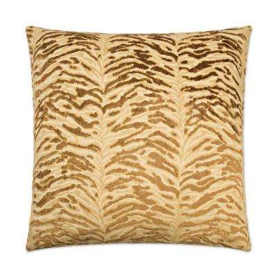 Sabu Gold Feather Down 24 in. x 24 in. Standard Decorative Throw Pillow