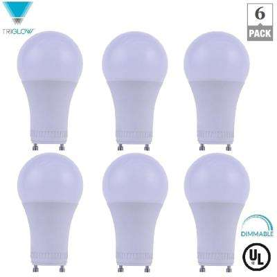60-Watt Equivalent A19 Dimmable GU24 Base LED Light Bulb Warm White (6-Pack)