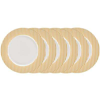 Gold Plated 10.5 in. Dinner Plate (Set of 6)