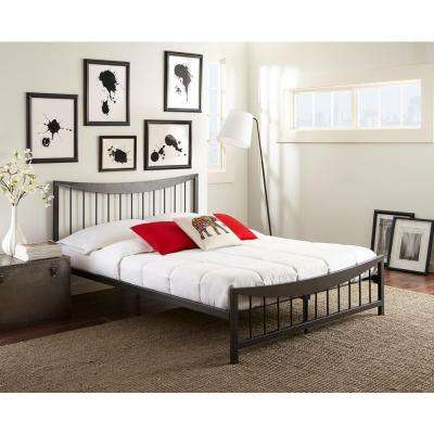 Shannon Textured Black Full Platform Bed