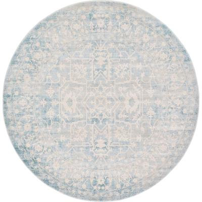 New Classical Olympia Blue 6' 0 x 6' 0 Round Rug