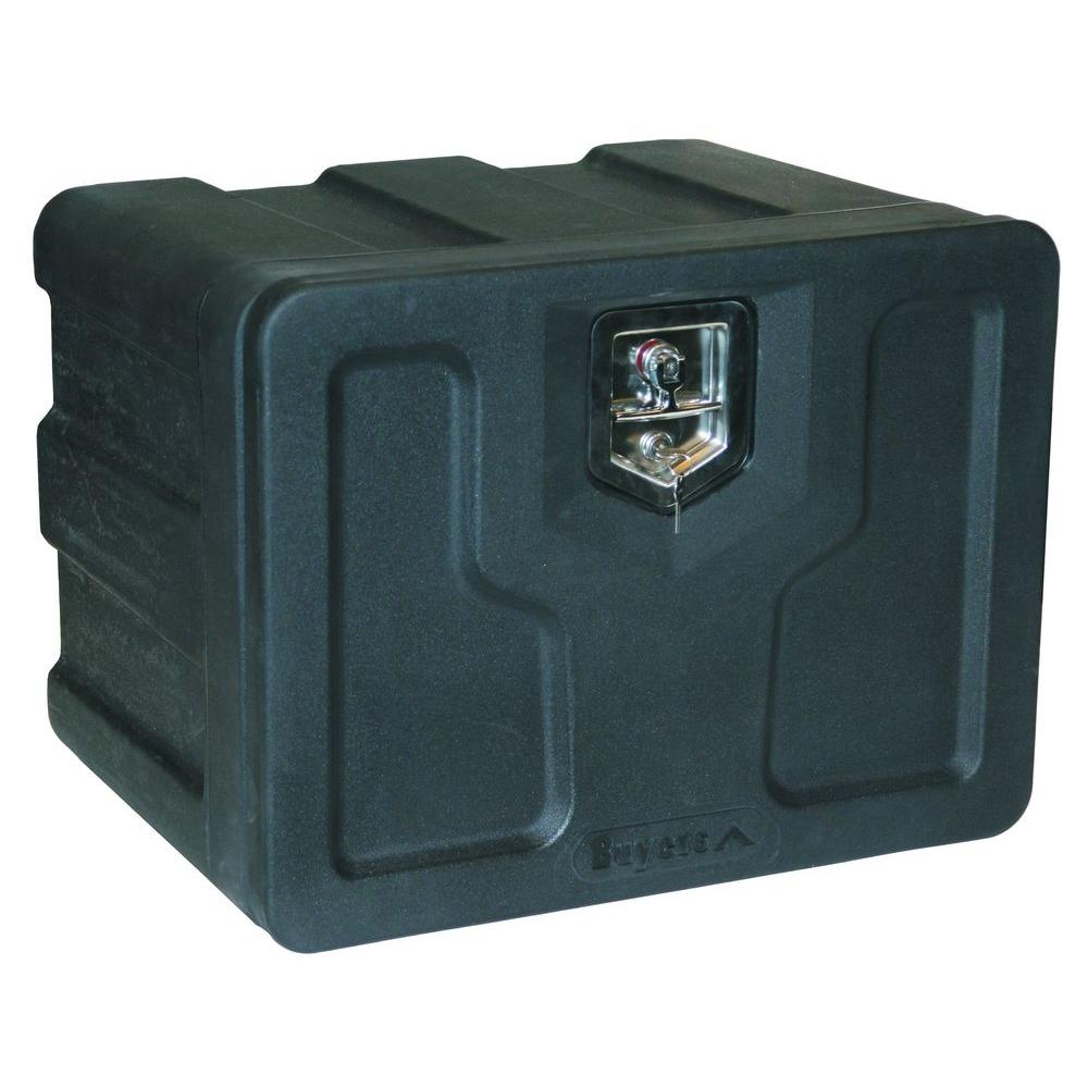 Black Polymer Underbody Truck Box with T-Handle Latch, 18 in. x